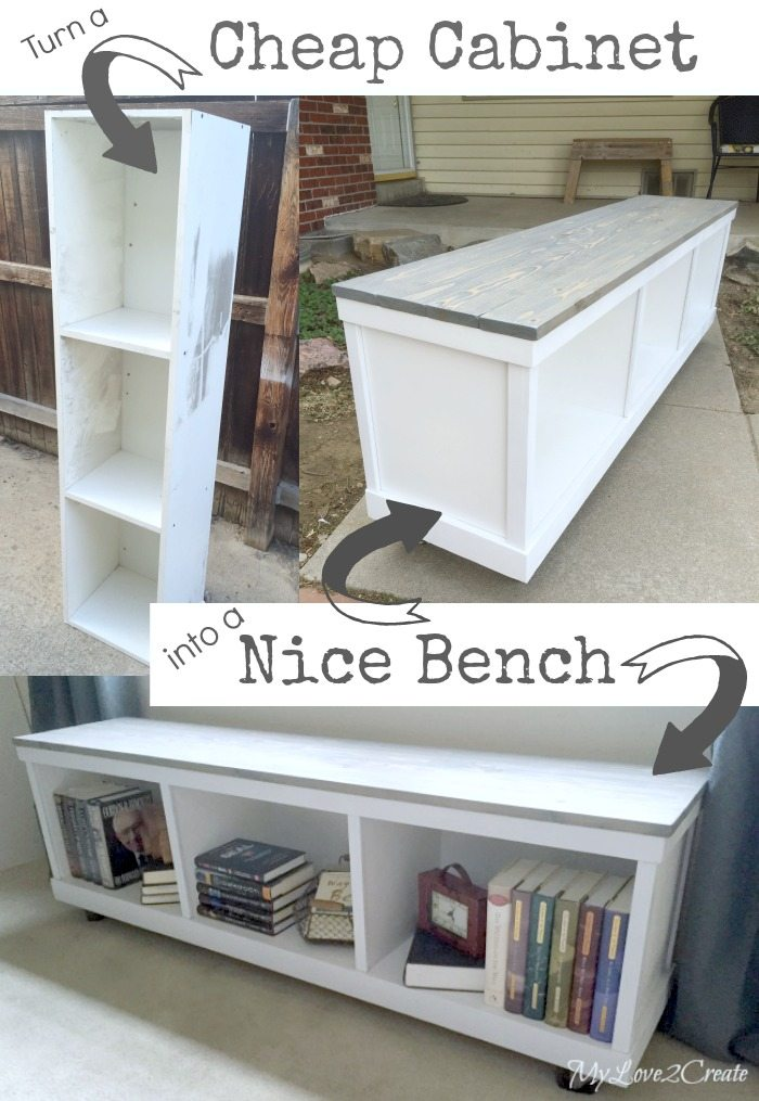 ... great project with you, how to turn a Cheap Cabinet into Nice Bench