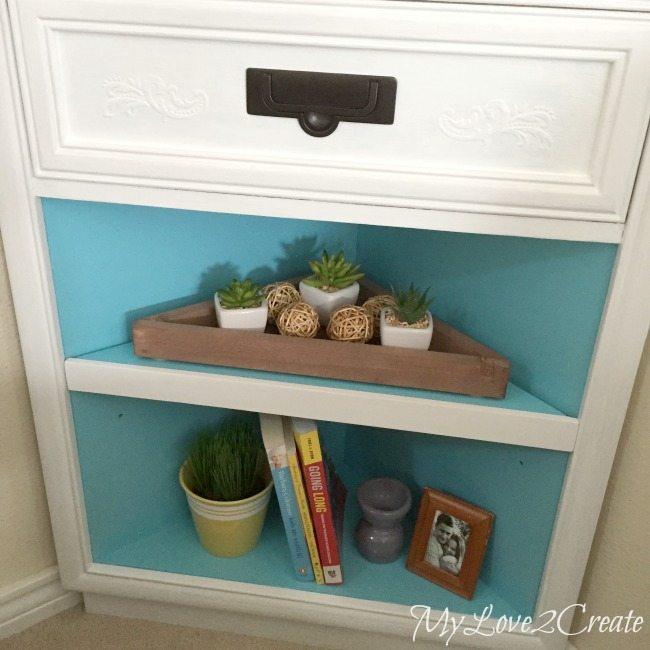 corner cabinet stage bottom shelves