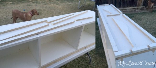 bulking up the top with scrap from old drawers