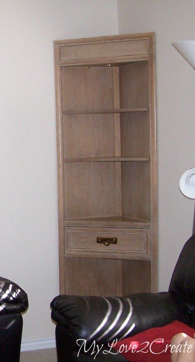 MyLove2Create, corner cabinet before