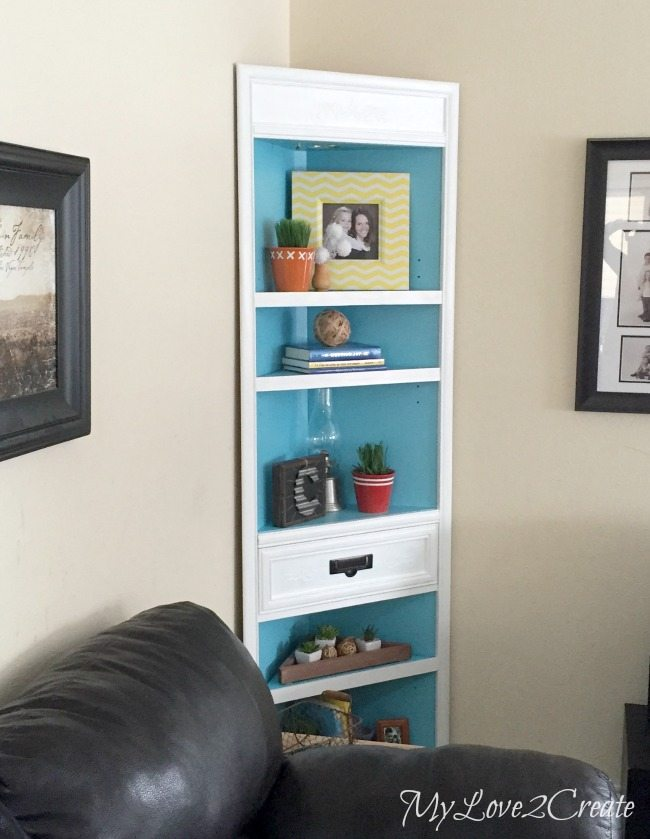 MyLove2Create, corner cabinet makeover from the left