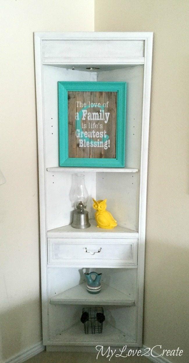 corner cabinet primed with Kilz