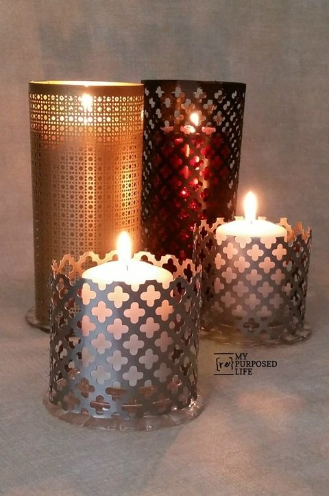 Easy Sheet Metal Candle Lantern My Repurposed Life 174