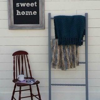 DIY Blanket Ladder with Repurposed Spindles