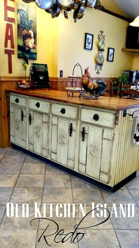 Old Kitchen Island Redo