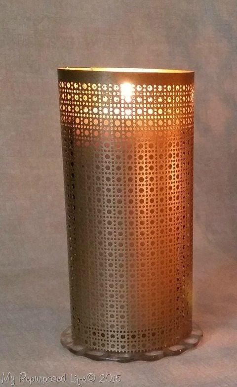 Easy Sheet Metal Candle Lantern My Repurposed Life 174