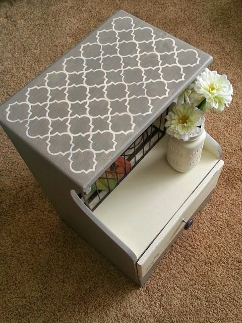 painted-stenciled-nightstand-makeover