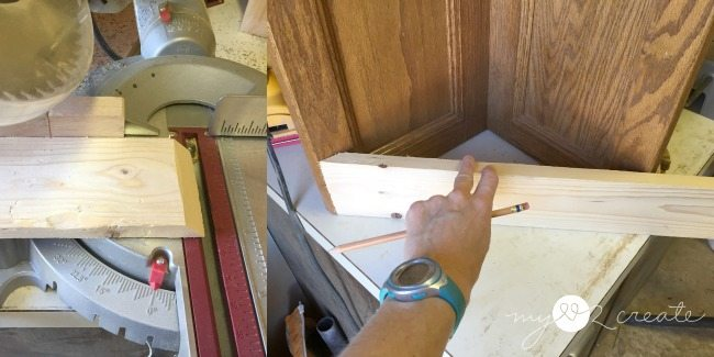 45 degree cuts for faux drawers on corner planter