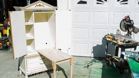 Kids Art Desk Repurposed Armoire My Repurposed Life