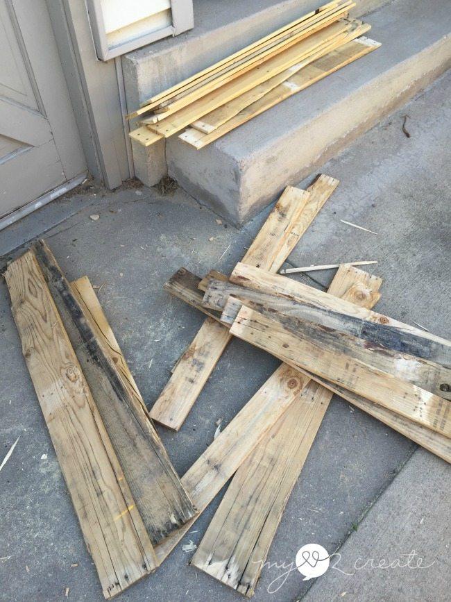 broken up pallets Stackable Pallet Crates