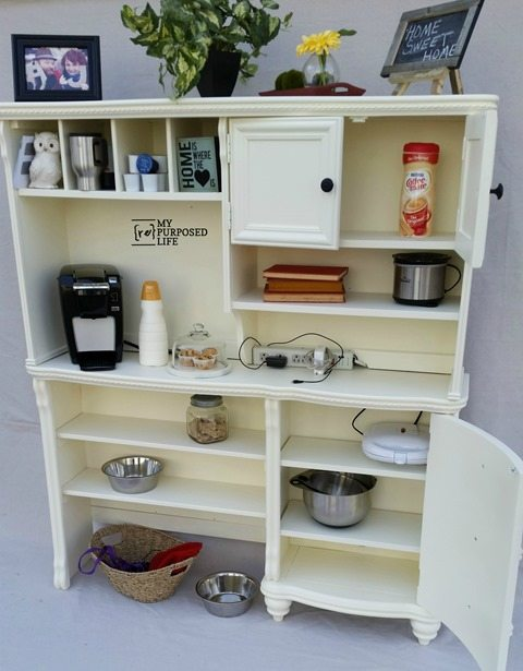 MyRepurposedLife-kitchen-coffee-charging-station