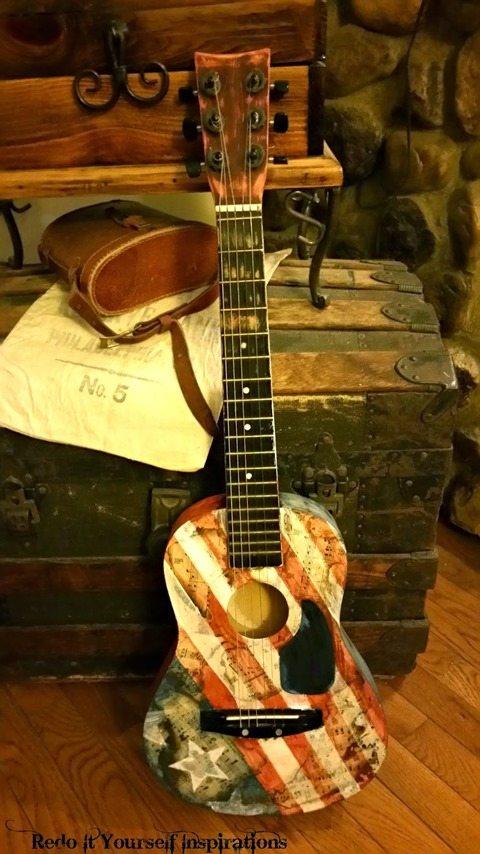 americana-guitar-decoupage
