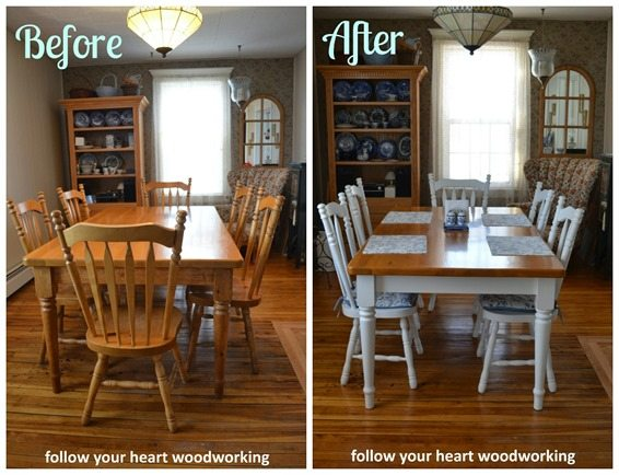 before-after-pine-dining-room-set