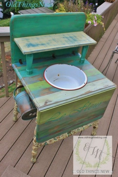 drop-leaf-table-potting-bench