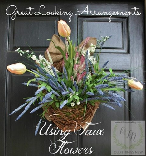 faux-flower-arrangement-front-door