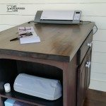 Craft Table made from kitchen cabinet