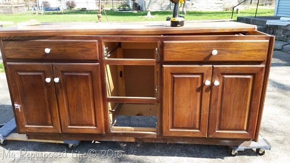 Interior Repurposing Kitchen Cabinets repurposed cabinet saw stand old base
