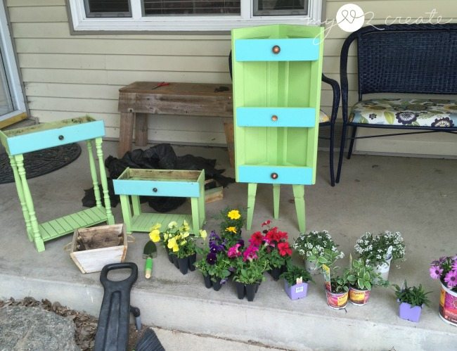 planters ready for plants