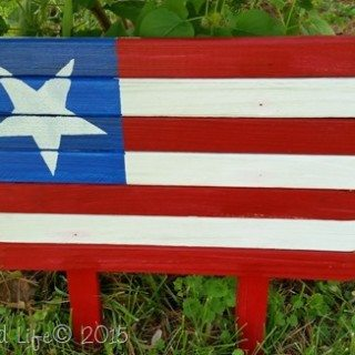 DIY American Flag For Your Garden