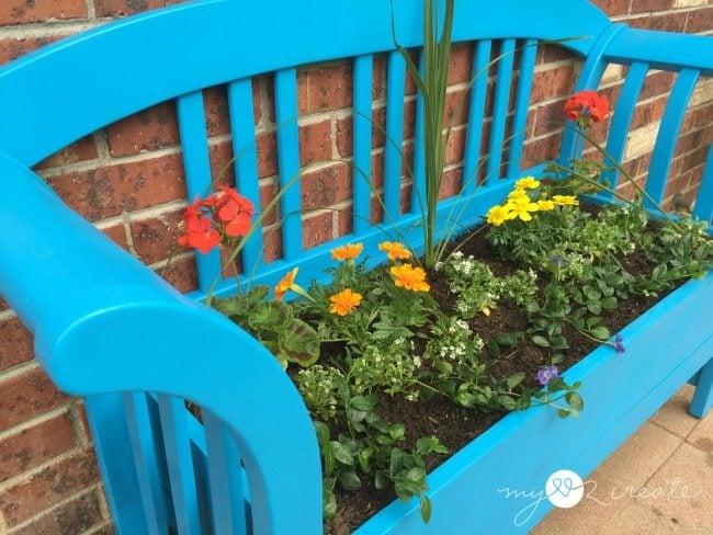 left side shot bench planter