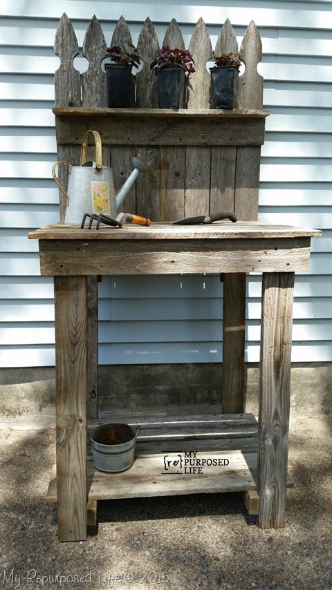 How To Make A Potting Bench From Scrap Wood