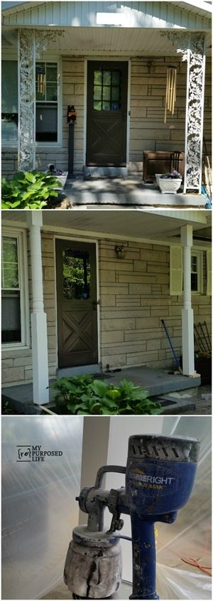 How to Paint Porch Posts