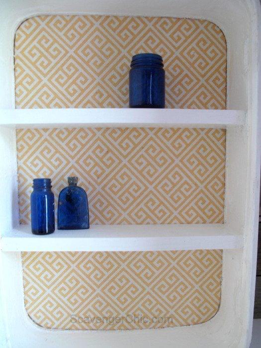 Vintage Suitcase Makeover -storage cabinet