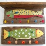Pallet Wood and Tinker Toys Wall hooks