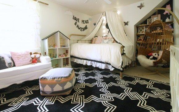 black-pink-white-girls-room