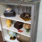 IKEA Billy bookcase update with paint and reclaimed wood