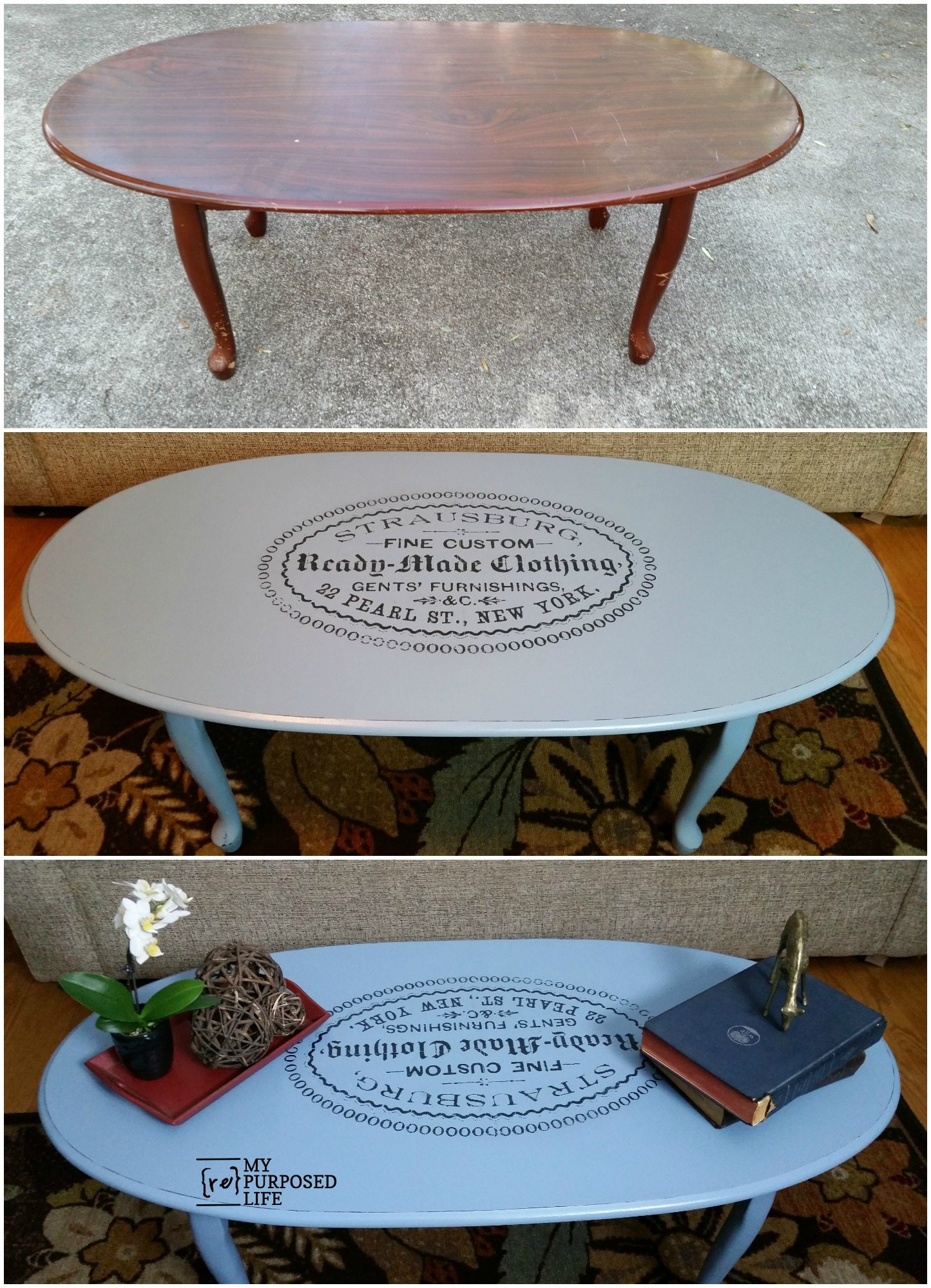 I did an easy image transfer on an old coffee table using 1Gel from Heirloom Traditions Paint. Transferring images is a fun way to update old furniture. via @repurposedlife