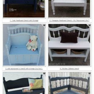 Repurposed Headboard Bench  Vote For Your Favorite