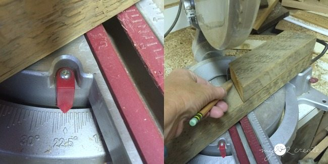 cutting wood at 22.5 degrees to make an octagon shape