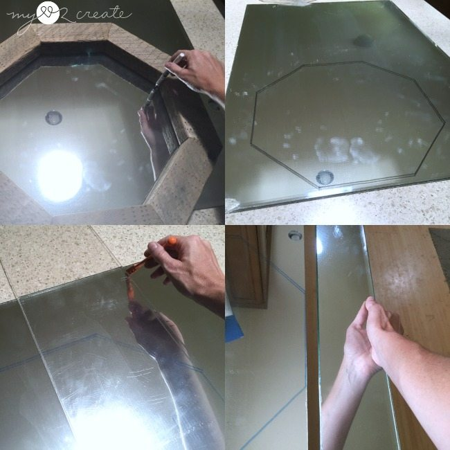 how to cut a glass mirror into any shape