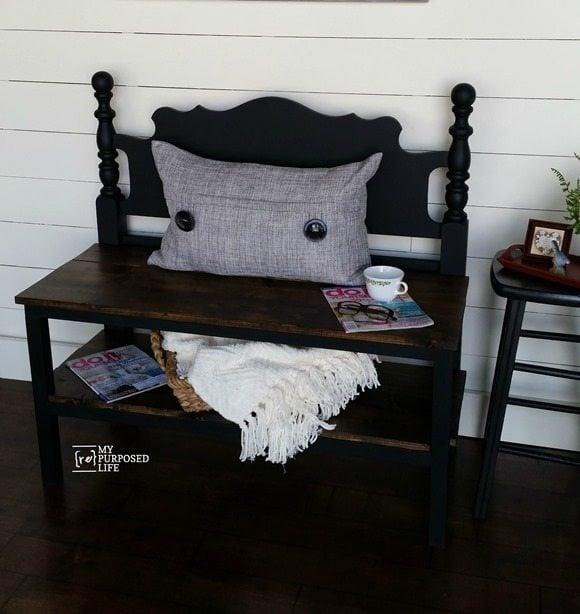 50 Headboard Bench Ideas My Repurposed Life 174