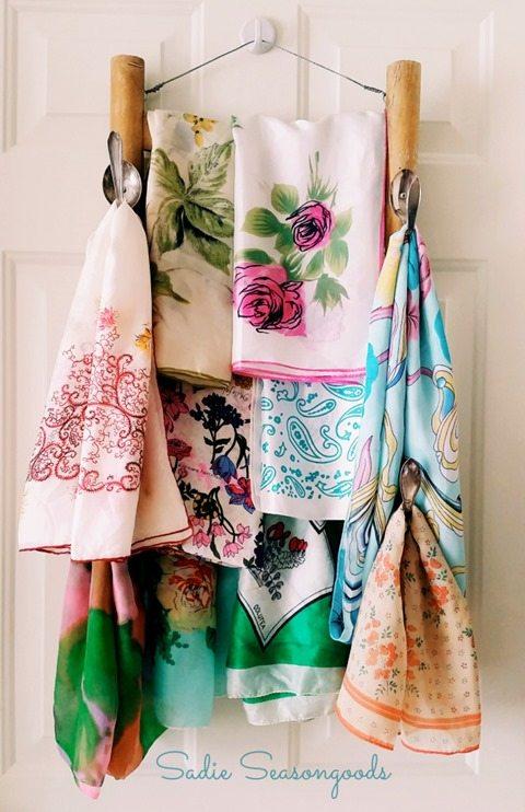 repurposed-chair-scarf-rack