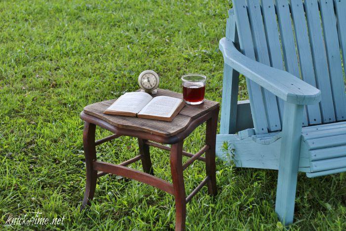 repurposed chair table