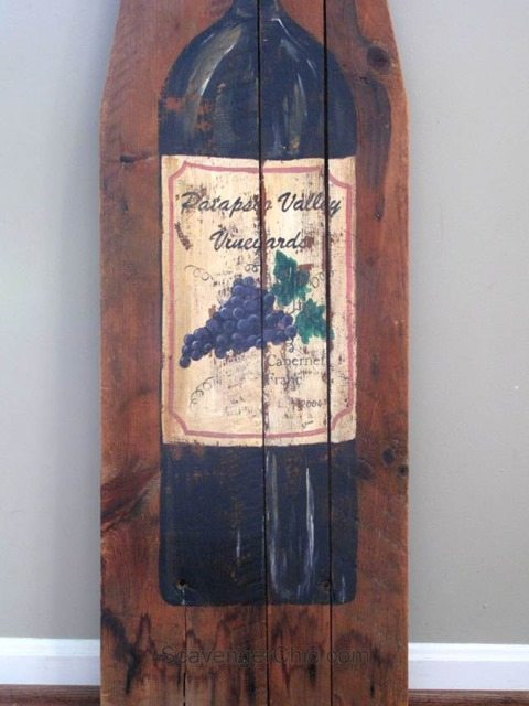 vintage-ironing-board-painted-wine-bottle