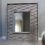 Repurposed Baby Gate Mirror