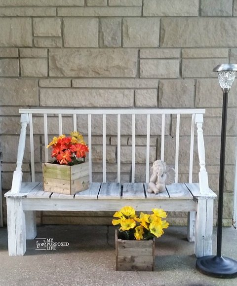 Rustic Garden Bench My Repurposed Life