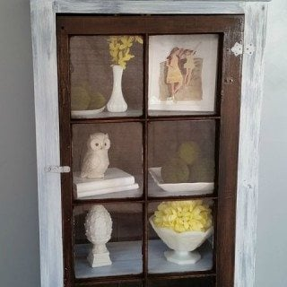DIY Tall Window Cabinet