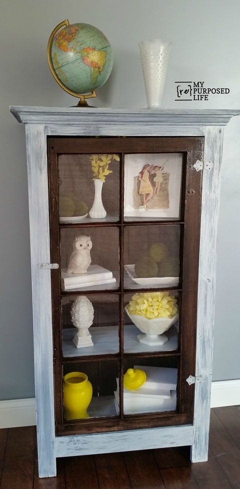 My Repurposed Life White Washed  Tall Diy Window