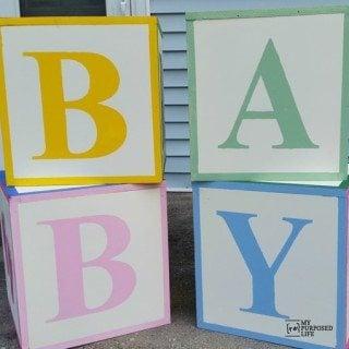 Baby Shower ABC Blocks