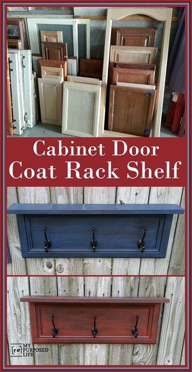 My Repurposed Life Repurposed Cabinet Door Coat Rack