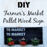 Pallet Wood Farmer's Market Sign