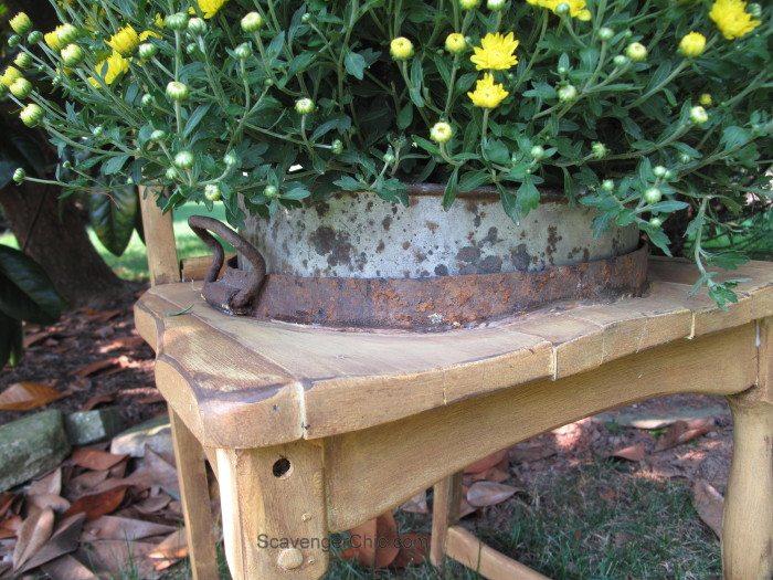 Broken down Chair Planter diy