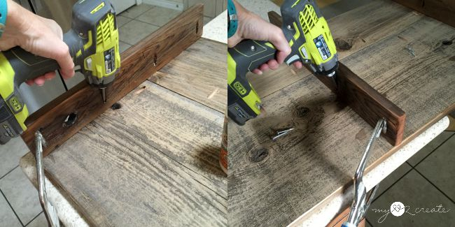 adding coffee table support with pocket holes