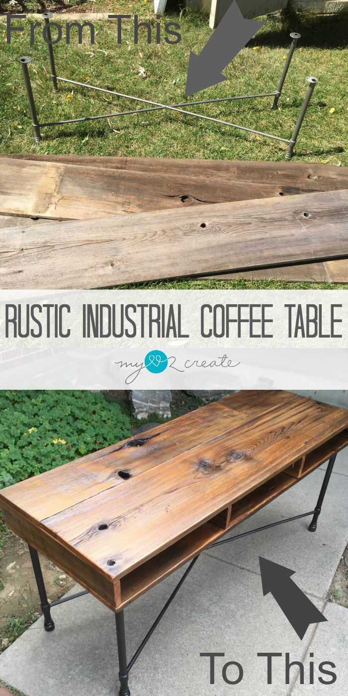 Rustic and Industrial Coffee Table