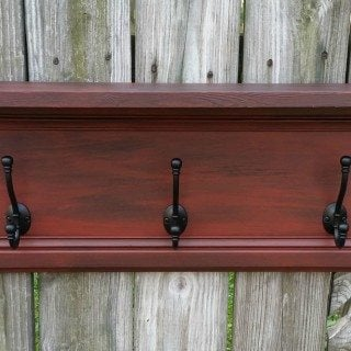 Repurposed Cabinet Door Coat Rack