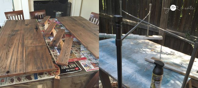staining natural weathered wood to bring out beauty